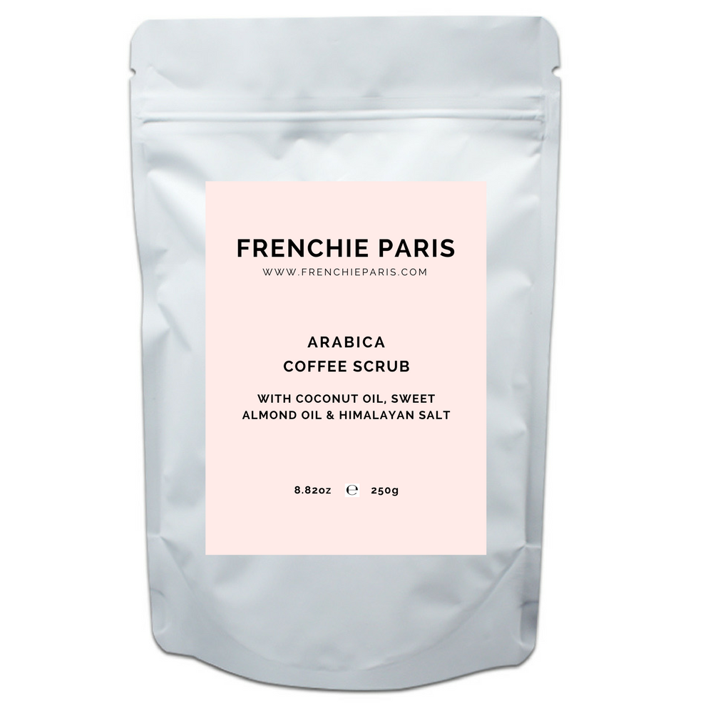Frenchie Paris Arabica Coffee Scrub With Coconut Oil Sweet Almond Oil Himalayan Salt 1