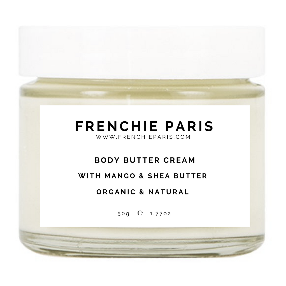 Frenchie Paris Body Butter Cream Mango & Shea Butter Organic Natural 1