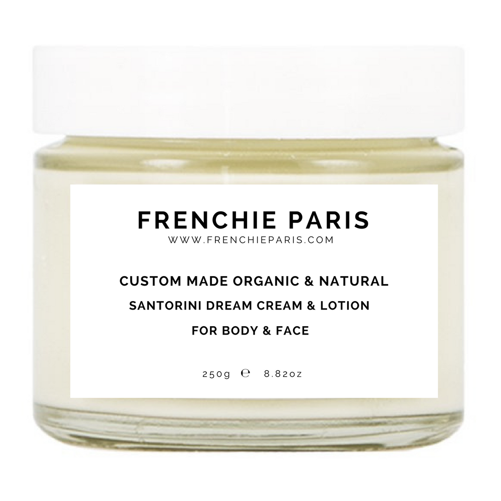 Frenchie Paris Custom Made Organic Natural Santorini Dream Cream Lotion For Body Face 1 (1)
