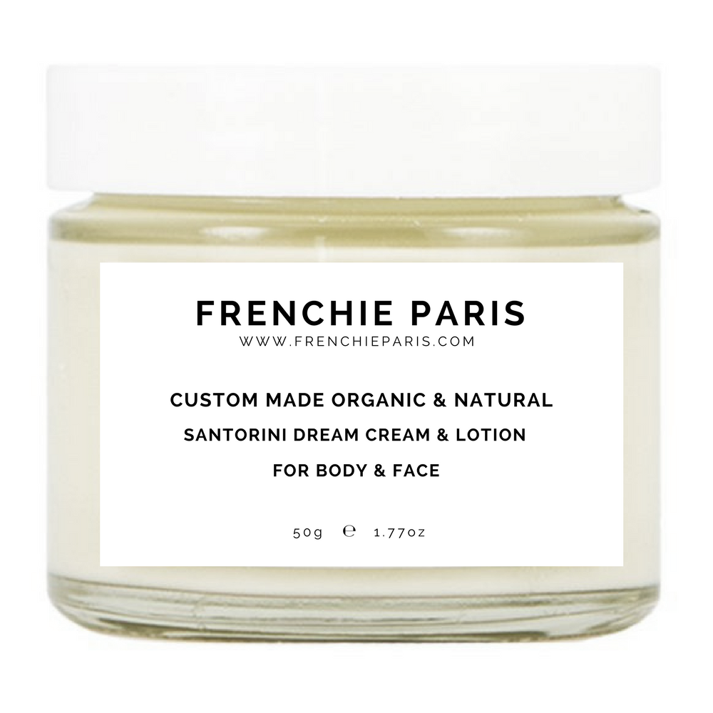 Frenchie Paris Custom Made Organic Natural Santorini Dream Cream Lotion For Body Face 1