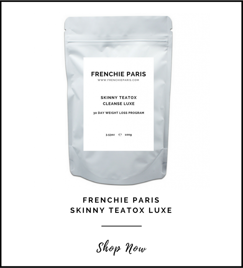 Frenchie Paris Skinny Tea tox Luxe Dieters Tea Natural Organic Front Page 2