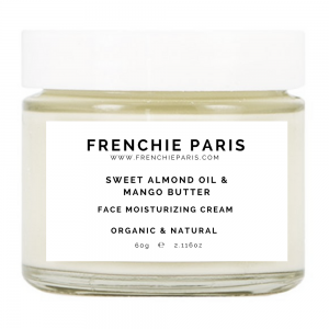 Best Face Moisturizer For Dry Skin & Sensitive Skin - Natural & Organic Sweet Almond Oil Mango Butter Frenchie Paris 1