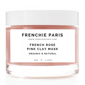 Best French Rose Pink Clay Mask For Combination Dry Oily Sensitive Skin - Natural & Organic Frenchie Paris 1