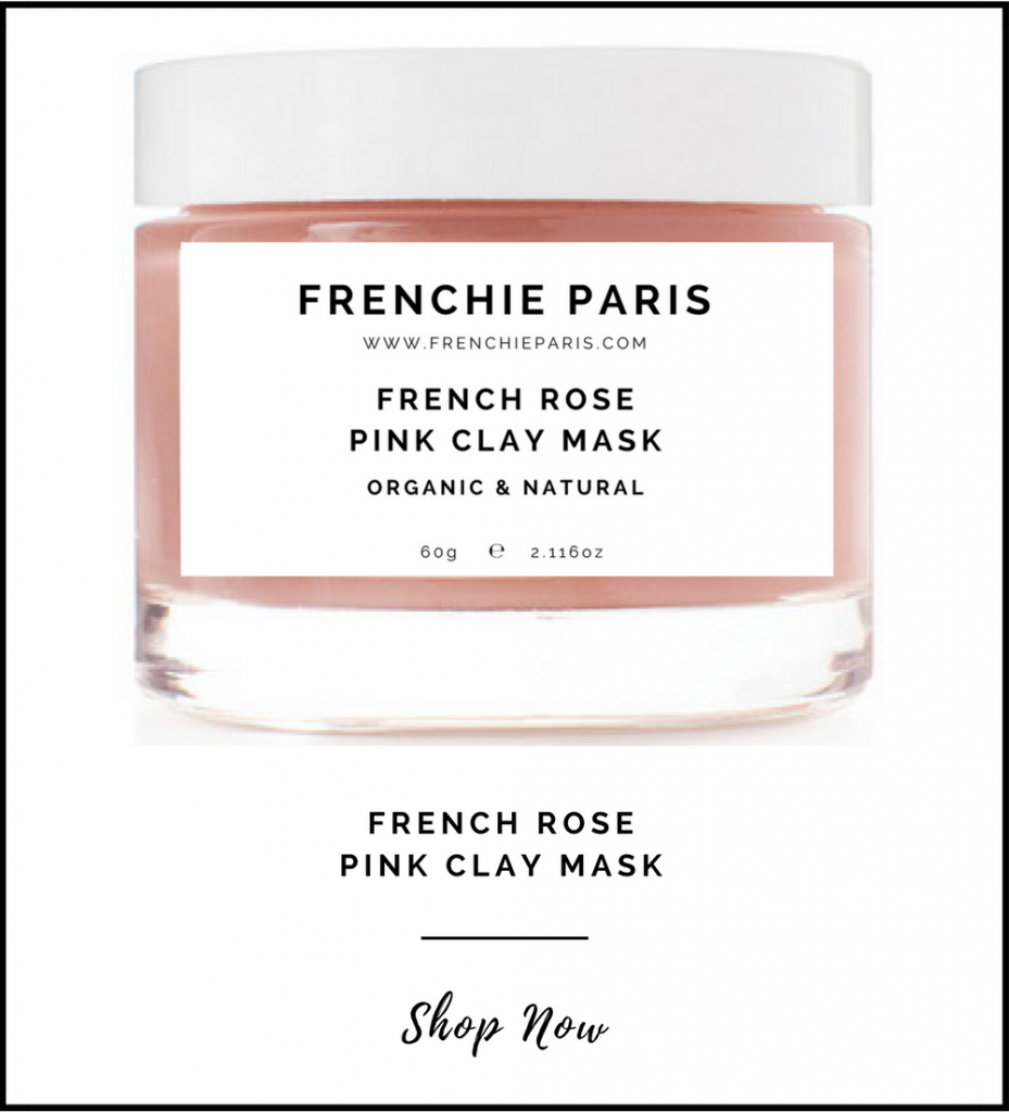 Frenchie Paris French Rose Pink Clay For Dry Skin Oily Combination Sensitive Hydrating 1
